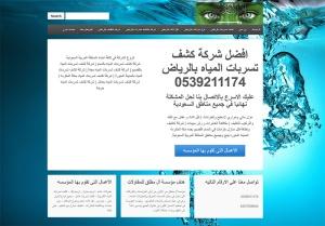 تصميم-موقع-مواقع-شركة-كشف-تسربات-المياه-بالرياض-بجدة-الدمام-القصيم-المدينة-المنورة-مكه